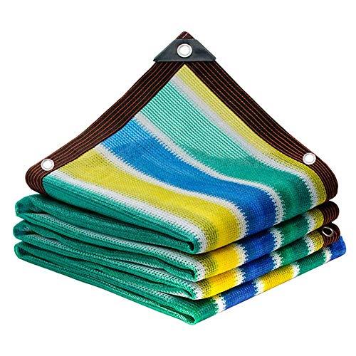 JINHH Verdickung Sonnenschutz Net, Sunblock Shade Cloth 90% Farbstreifen Isolierung Netto-Villa Hof Carport-Dach Balkon Schatten Netto-Gewächshaus Shade Net