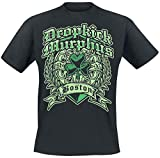 Dropkick Murphys Boston Irish Heart Hombre Camiseta Negro XXL, 100% algodón, Regular