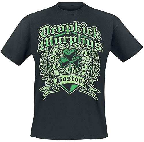 Dropkick Murphys Boston Irish Heart Männer T-Shirt schwarz XL 100% Baumwolle Band-Merch, Bands