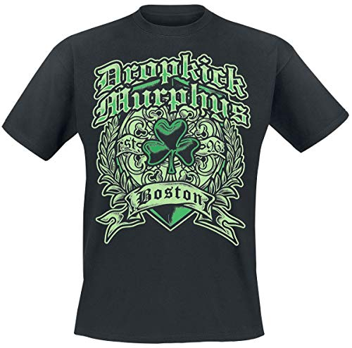 Dropkick Murphys Boston Irish Heart Hombre Camiseta Negro XL