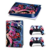 Mmoptop PS5 Skin for Playstation 5 Disc Version Console and Controller Vinyl Cover Skins Wrap - SPI-der-Man
