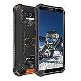 Rugged Smartphone Unlocked,OUKITEL WP5, Android 10 Cell Phone,8000mAh Battery 4GB+32GB Triple Camera 4 LED Flashlights,5.5 Inch Dual Sim GSM 4G, GPS, Bluetooth, WiFi,Orange