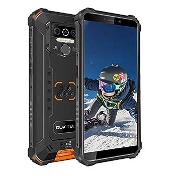 Rugged Smartphone Unlocked OUKITEL WP5 2020  Android 10 Cell Phone 8000mAh Battery 4GB+32GB Triple Camera 4 LED Flashlights IP68 Waterproof Phones 5.5 Inch Dual Sim GSM 4G GPS Bluetooth WiFi