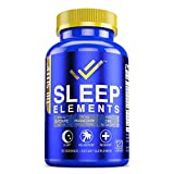 Sleep Elements Sleep Aid - Melatonin-Free Natural Sleeping Pills for Adults - Triple Magnesium Calm Formula with Zinc - Supplement for Better Insomnia and Anxiety Relief without Melatonin - Keto Vegan