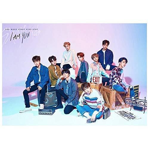 D KPOP Stray Kids Album Double Knot Cloth Paper Poster Bonito Regalo(H04-42 * 30cm)