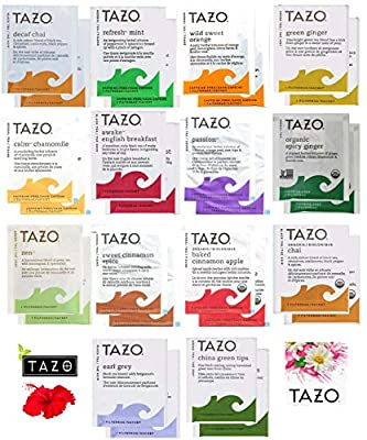 Tazo Tea Bags Sampler Assortment Variety Pack Gift Box - 42 Count - 14 Different Flavors Perfect Variety – Passion Fruit, Awake English Breakfast, Early Grey, Green, Herbal, Chai Tea and more …
