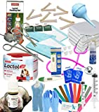 Complete Deluxe Whelping Puppy Kit, Aspirator, Lactol Puppy Milk & Bottle, Whelping Guides, Cord Clamps etc Full Kit
