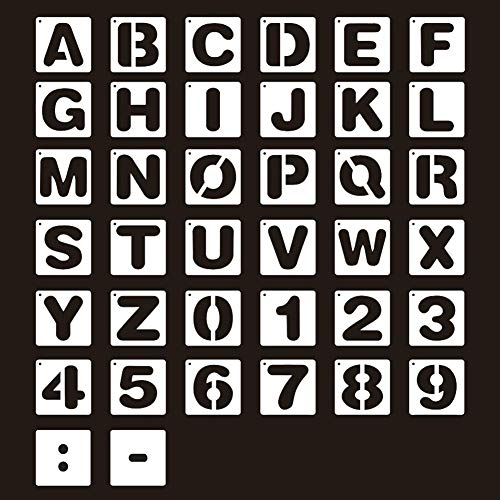 Plantillas de letras,26 letras+10 números+2...