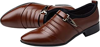 New British Men's Formal Comfortable Dress Genuine Leathers Shoes Fashion Pointed Toe Formal Wedding Shoes