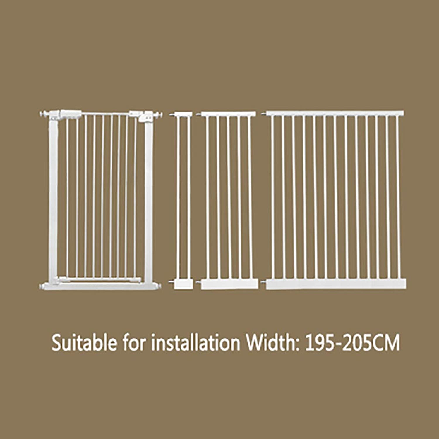 FPigSHS Pet gate Dog fence indoor Antidog isolation railing safety fence Cat and dog fence Isolation door Pet fence pet bed Detachable (color   W195205cm, Size   H 110CM)
