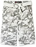 Southpole Men's Shorts, Camo New White, 36