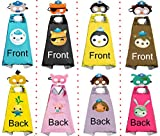 HeyFun 4 Sets Octonauts Costumes Capes & Masks 2-Sided Cosplay Dress Up for Kids Halloween Party Supplies