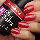 Pink Gellac109 Lipstick red Color Esmalte Gel Permanente 14 días