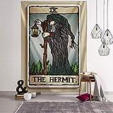 KHKJ Tapiz de Tarot con ilustración en Color, Alfombra de cabecera de habitación de brujería Oscura Creativa, Manta de astrología, decoración del hogar A4 95x73cm