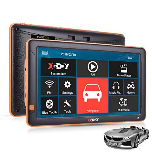 camion avec code postal alerte de vitesse carte la plus r/écente Xgody X4 SAT NAV GPS Syst/ème de navigation 22,9 cm 8 Go avec Bluetooth mises /à jour gratuites de cartes /à vie pour voiture camion