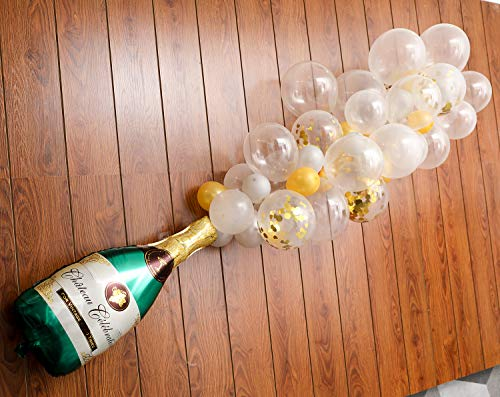 Champagne Bottle Balloon Kit, 2Pcs 40 Champagne Bottle Balloon & 70Pcs Assorted Balloons Ideal for Wedding Birthday Bachelorette Bridal Shower Party Decorations