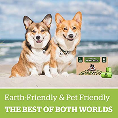 Pogi's Compostable Poop Bags - 9 Rolls (135 Bags) - Leak-Proof, Extra-Large, Plant-based, ASTM D6400 Certified Home Compostable & Biodegradable Waste Bags for Dogs 7