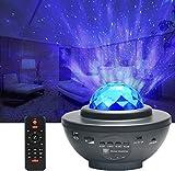 Proiettore Stelle, CompraFun Lampada Proiettore Stelle Bluetooth, Nebulosa a LED con Timer e Telecomando, Lampada da Comodino per Bambini, Esterno, Casa, Luce Notturna Feste, Decorazioni, Regali