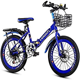HAOT Bicicleta Plegable Plegable para Hombres y Mujeres - Bicicleta de montaña Plegable para niños de 18 Pulgadas 20 Pulga...