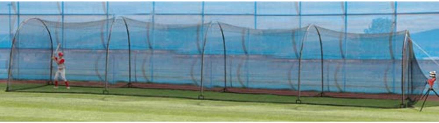 Trend Sports Heater Double Complete Home Batting Cage (48' x 12' x 10')