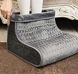 Calentador de pies con 4 niveles de temperatura, apagado automático, saco lavable para calentar los pies con el calzado...