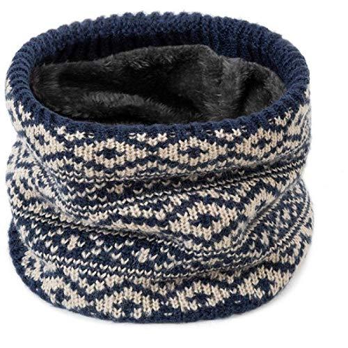 Bufanda de anillo para mujer Bufandas gruesas de invierno de punto cálido para hombres Bufanda de cuello Niños Niños Niñas Pañuelo para el cuello