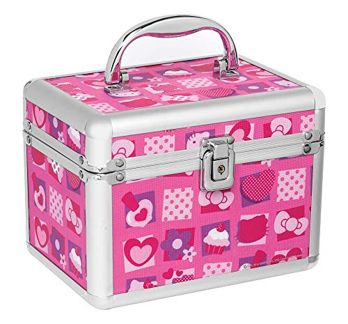 Maleta Quadrada Hello Kitty Mosaico, Ricca, Rosa,