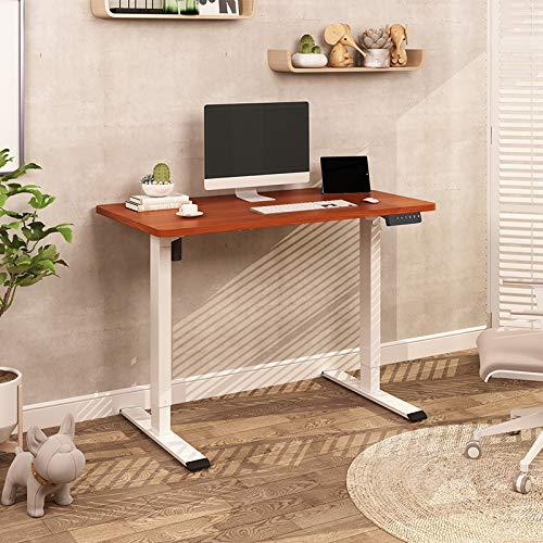 Flexispot E1 Elektrisch Höhenverstellbarer Schreibtisch mit Tischplatte 2-Fach-Teleskop, mit Memory-Steuerung (120 x 80 cm, Mahagoni+Weiß)