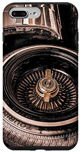 iPhone 7 Plus/8 Plus Lowrider Gold knockoff spoke wheel rim art Case