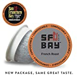 SF Bay Coffee French Roast 80 Ct Dark Roast Compostable Coffee Pods, K Cup Compatible including...