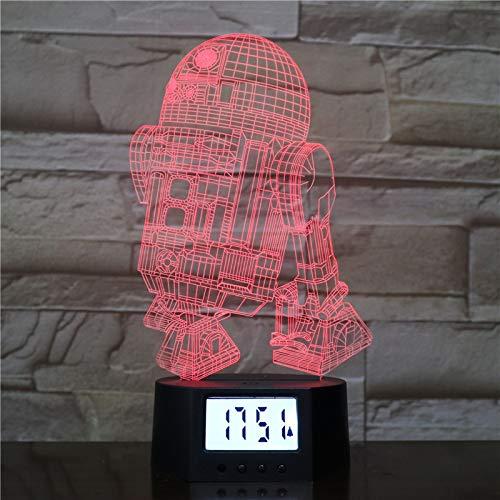 3D-Acrylroboter-Weckerbasis Kann Led-Nachtlicht Der Heimdekoration Berühren