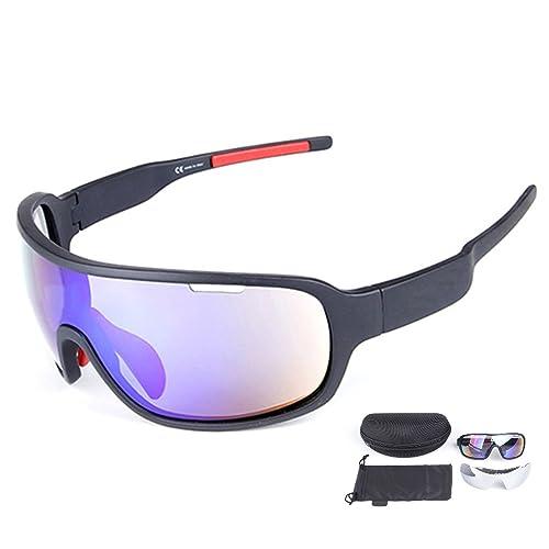 965cd72a40 Lorsoul Polarized Sports Cycling Sunglasses Bike Glasses for Men Women  Running Driving Fishing Golf Baseball Racing
