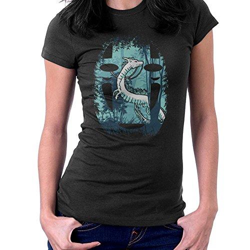 Cloud City 7 Geestelijke weg bos draak geen gezicht Studio Ghibli vrouwen T-Shirt