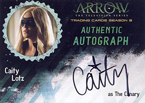 2017 Arrow the TV Show Season 3 Autograph Card CL2 Caity Lotz as The Canary