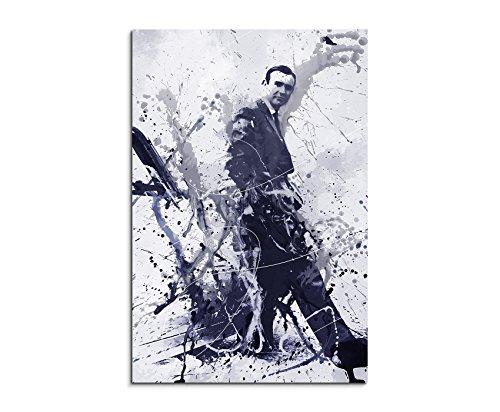 Sean Connery James Bond Art 90x60cm - Wandbild als Kunstbild Malerei Fotoleinwand fertig auf Keilrahmen direkt vom Künstler