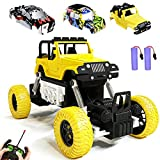 KULARIWORLD RC Cars Rechargeable Remote Control Car Off Road Truck Hobby RC Crawlers Toy for Kids Boys Girls Gift 27 MHz High Speed Stunt Vehicle with 2 Rechargeable Batteries