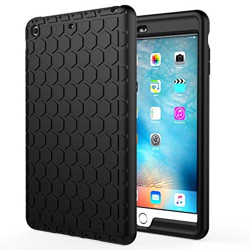 MoKo Funda para iPad Mini 3/2 / 1 - Lightweight Cubierta Shockproof Cover Case Esquina Silicona Protector Parachoques para Apple iPad Mini 1 / Mini 2 / Mini 3 Tableta, Negro