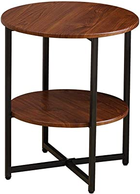 JCCOZ-URG Small Coffee Tables for Small Space,Multi-Layer Movable Living Room Round Table, Suitable for Living Room, Office,Restaurant JCCOZ-URG (Color : A)