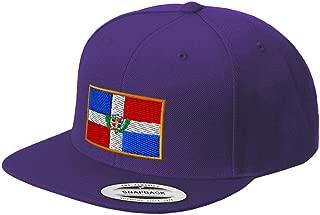 Custom Snapback Baseball Hat Dominican Republic Embroidery City Name Acrylic Cap