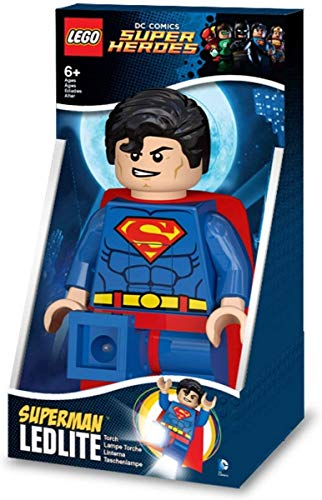 Lego Lights IQLGL-TOB20T - Superman 8.5 Inch Tall Night Light - DC Comics Torch - Superhero LED Toy Figure
