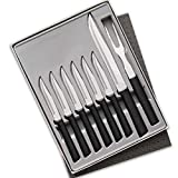 Rada Cutlery Meat Lover's 8-Piece Steak Knife Gift Set – Stainless Steel Blades and Steel Resin Handles