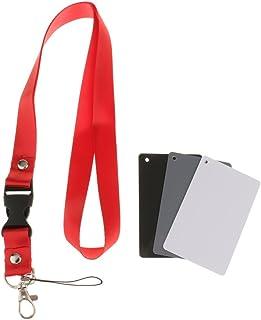 D DOLITY 3 in 1 18% Pocket Size Digital Black White Grey 18% Gray Exposure Color Balance Cards Photography Card Set + Port...