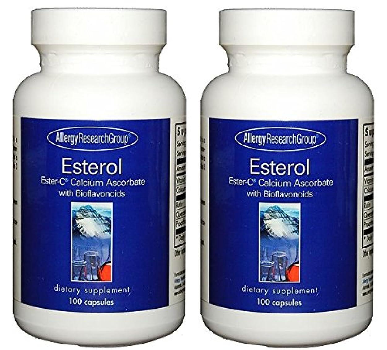 サンダースバンド葡萄エスターC バイオフラボノイド 100 (Esterol Ester-C with Bioflavonoids 100 Vegetarian Capsules) [海外直送品] 2ボトル