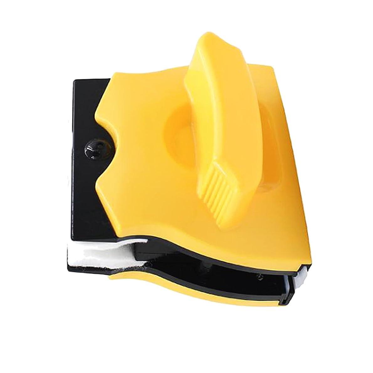 考えアスリートスーツjoyMerit 各種両面磁気窓クリーナー/高層窓用ガラスワイパー便利な清掃用具/安全用ブラシ - 黄