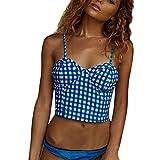 MRULIC Frauen Bademode Beachwear Patchwork 2 Stücke Gedruckt Bikini Badeanzug Badeanzug Crop Tops...