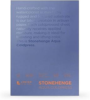 Legion Stonehenge Aqua Watercolor Block, 7x10, White 15 Piece