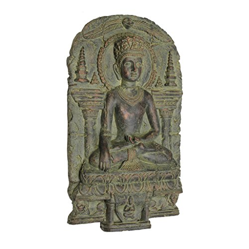 Design Toscano EU1004 Earth Witness Buddha Wall Sculpture c. 900-1200 A.D,Gothic Stone