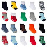 Little Me 20-Pack Newborn Baby Infant & Toddler Boys Socks, 0-12/ 12-24 Months, Assorted Size Pack