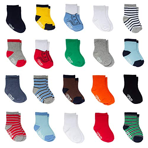Little Me Infant Socks & Baby Boy Socks, 20 Pairs, 0-12/12-24 Months