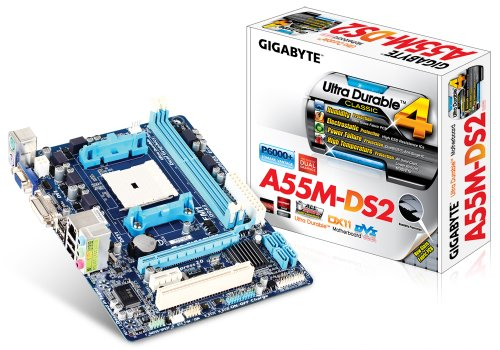 Gigabyte GA-A55M-DS2 Mainboard (Micro-ATX, DDR3 Speicher, Sockel FM1)